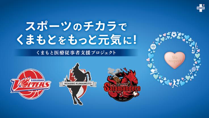 スポーツのチカラで熊本を元気に!くまもと医療従事者支援プロジェクト