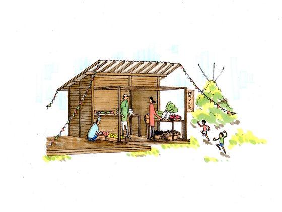 自然野菜を地域に根付かせたい!畑で地産地消マルシェを開催!