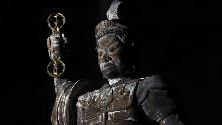 山形県寒河江市・本山慈恩寺に伝わる440年前の仏像、持国天を修復!