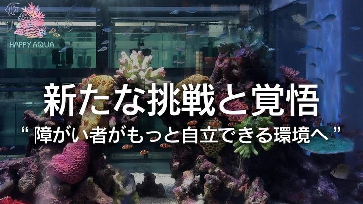 設備の拡大。熱帯魚直販と苔リウムへの新たな挑戦で障がい者の自立へ。