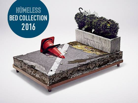日本に1万人以上いるホームレス問題を訴えるベッドを制作したい