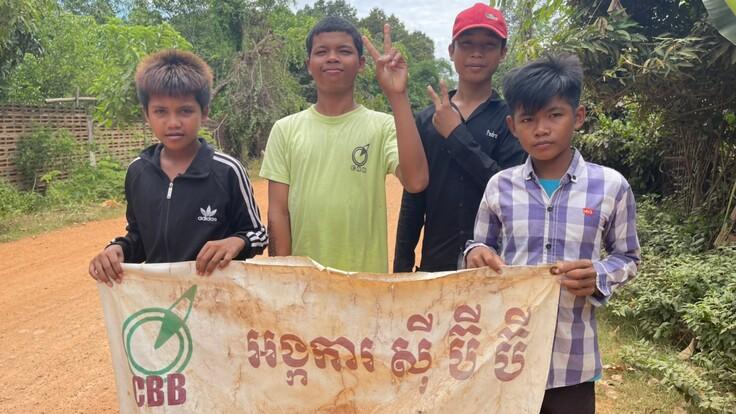 【カンボジア教育支援】ソーラーライトで通学路に灯りと継続的な教育を