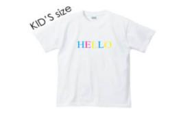 ブランド第一弾【HELLO】colorTシャツ キッズサイズ