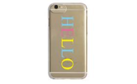 ブランド第一弾【HELLO】colorT iPhoneケース