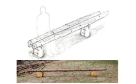 【茨城県内限定】お庭などにヒノキのベンチを設置します!