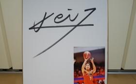 【限定5名】新潟アルビレックスBB 五十嵐圭選手の写真付きサイン入り色紙