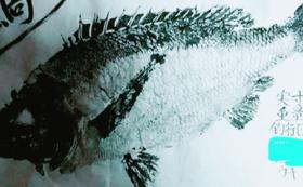 お礼状+魚拓