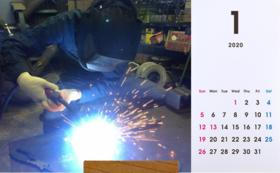 リーマンサットの活動写真入り!フォト卓上カレンダー2020