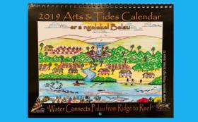 25周年記念誌とパラオ国際サンゴ礁センターのカレンダー