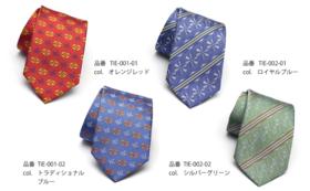 会津型紋柄ネクタイ