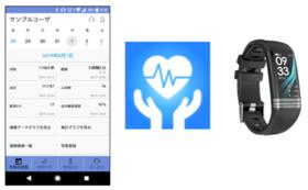 スマートウェアラブル1台+『ヘルポ』アプリ