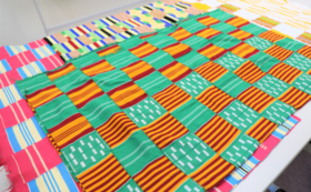 アフリカエウェ族の手織り布 他