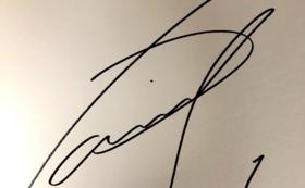シュミット・ダニエル選手のサイン入り色紙