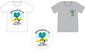 豊田弘治デザイン大阪大会2019公式シンボルビジュアルTシャツ&ステッカー