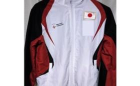 豊田選手が使用する日本代表ウィンドブレーカーへ名前掲載