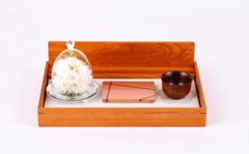 モダン仏壇 小 ガラスドームのアレンジaet