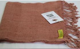【特産品で応援】ミャンマーでもインレー湖でしか織られていない貴重な蓮糸を織り込んだストール付き