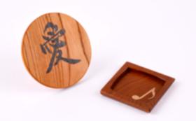 木象嵌プレート「愛」