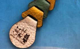 【工芸品】鹿革のキーホルダー(おぜしかプロジェクト)(限定50個)