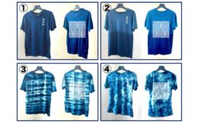 【本藍染めヘンプTシャツ(男女兼用)】
