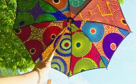 <限定15本>アフリカ布日傘