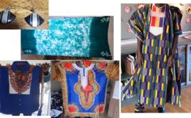 お礼の手紙とオーダーメイドの服1着、ニジェールのお土産1点をお送りします。