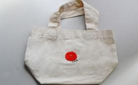 【福井県外の方限定】梅ワッペンの小さなトートバッグ