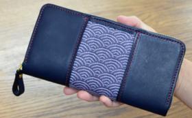 革×畳縁コラボ 「ラウンドファスナー長財布」