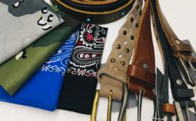 【ファッション】イタリア製ベルト&国産ハンカチセット