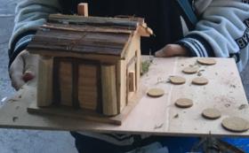奈良吉野杉間伐材の貯金箱キット
