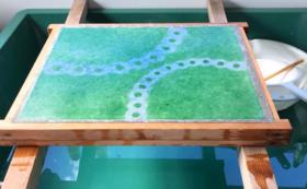 和紙造形で描く家族のイメージパネル