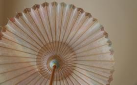 【和紙の美しい風合いを楽しむ】網代日傘