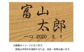ギフト#8:ギフト#4+寄附者名富山木象嵌木札(大)
