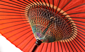 【婚礼の差し掛けやお茶席に】 爪折れ野点傘