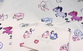 【西田惣染工場】あなたの手書きイラストを風呂敷に!