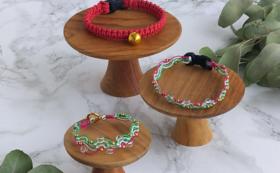 【40個限定!猫ちゃんへのプレゼント】鈴の首輪or天然石の首輪