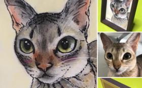 愛知の絵描きさんがあなたのペットの似顔絵を描きます!
