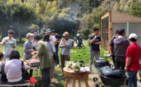 ヤマナハウス訪問コース「裏山シネマ・キャンプサイト完成記念イベント」