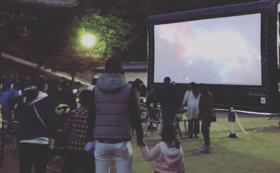 野外上映会(150名程度)&監督橋本昌彦氏によるコンサート(45分)開催して応援!