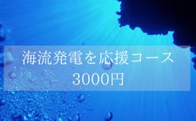 クリーンなエネルギー「海流発電」を応援コース  3000円