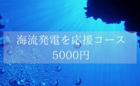 クリーンなエネルギー「海流発電」を応援コース  5000円