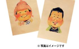 【似顔絵コース】手描きの似顔絵(中)をお届け!