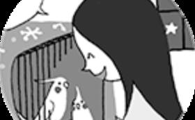 【創刊号プレンゼントコース】かさはら先生のイラスト画(B5プリント)額装