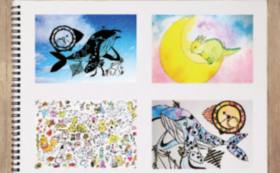 オリジナルポストカード3枚orPDF版オリジナル絵本コース