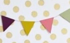 子育てサロン利用チケット(①~③から選択)& フラッグガーランドにお名前記載