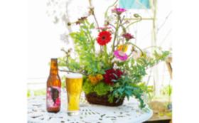New!【ギフトでもOK!】食卓を囲んでお花見セット(ビール2本セット)