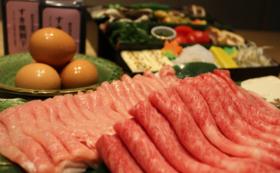 ご自宅は温泉旅館 若狭牛と白山豚のすき焼きセット4名様分&源泉10L