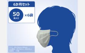 不織布マスク6ヵ月セット(50枚入り×6)