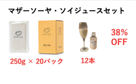 【38%OFF・20パック】Mother Soya・ソイジュースセット(オリジナルレシピメール付き)