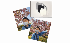 Sサイズ・コットンマスク(耳ゴムタイプ)2枚セット